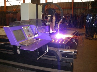 Plasma cutter at Bloch Steel